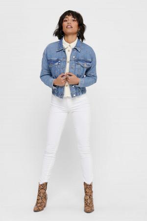 Veste en jean oversized avec base élastiquée RAVE Only