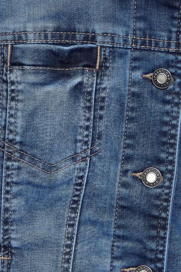 Veste en jean délavée poches poitrine manches longues Street One
