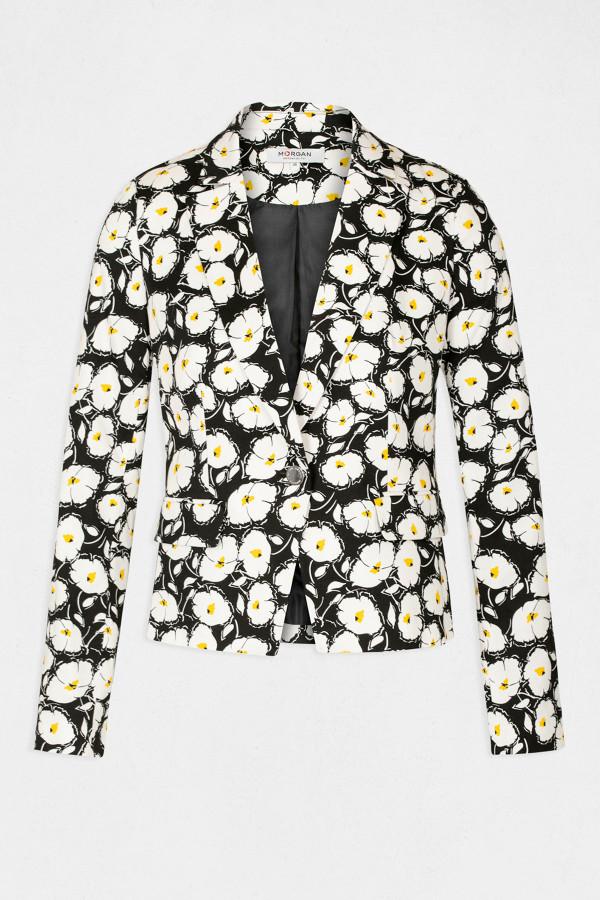 Blazer fleuri avec bouton et poches Morgan