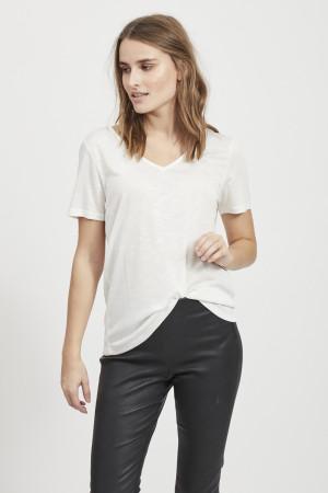 T-shirt fluide col V matière flammée NOEL Vila