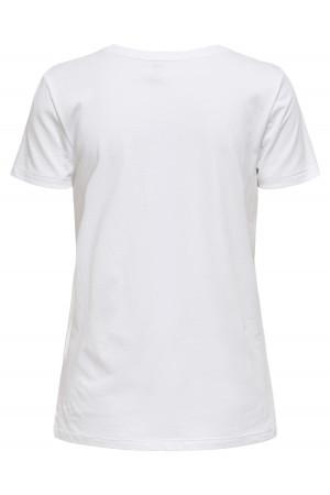 T-shirt uni basique en coton avec image imprimée devant PRIYA Only