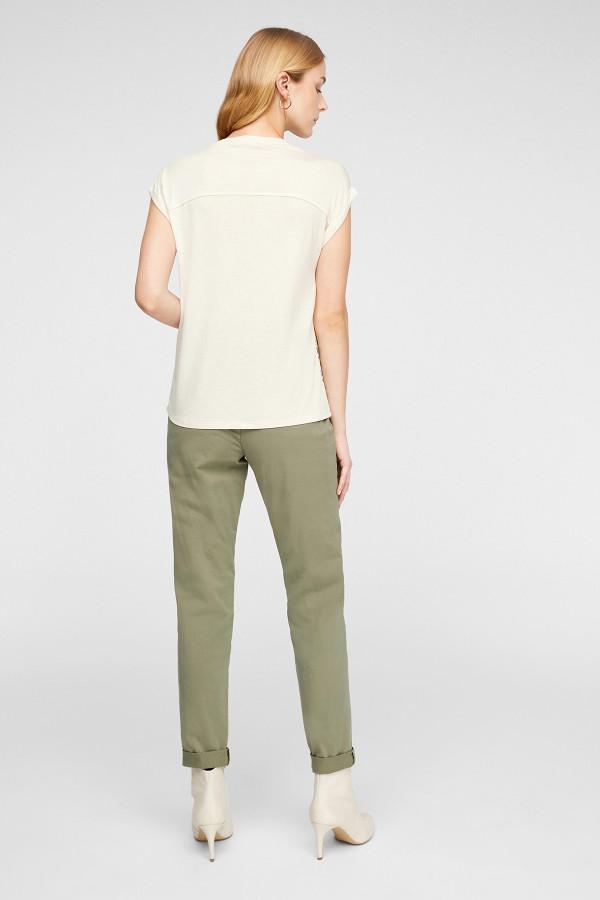 T-shirt loose imprimé camouflage devant bi-matière S.Oliver