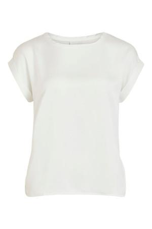 T-shirt uni bi-matière effet satiné ELLETTE Vila