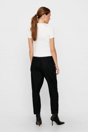 T-shirt uni côtelé manches courtes EMMA Only
