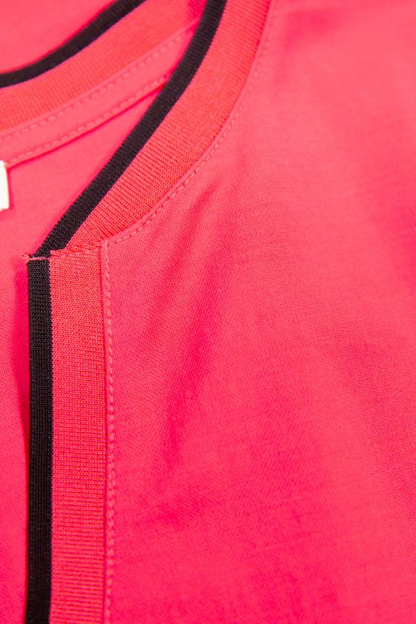 T-shirt uni bord contrastant au col manches courtes Garcia