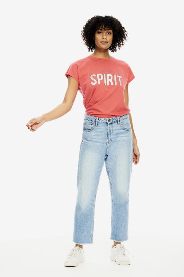 T-shirt avec impression sur le devant en coton Garcia