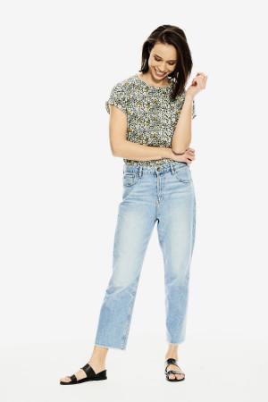 T-shirt manches courtes imprimé fleuri Garcia