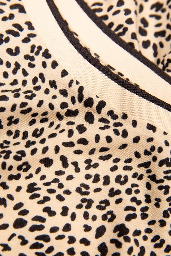 T-shirt imprimé léopard rayé au col Garcia