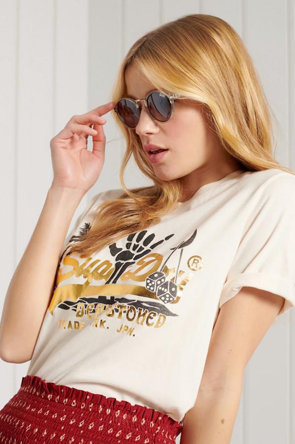 T-shirt avec impression devant en coton Superdry