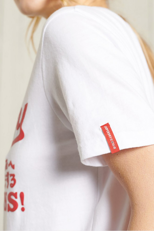 T-shirt avec logo imprimé devant en coton Superdry
