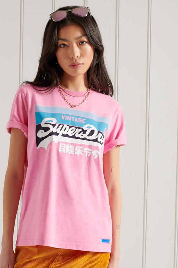 T-shirt courtes manches avec impression à l'avant CALI Superdry