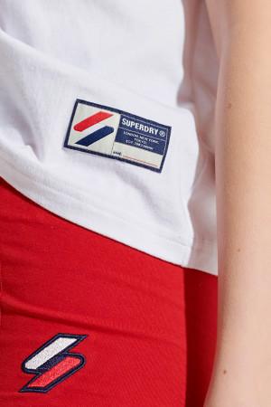 T-shirt loose court logo brodé devant SPORTSTYLE Superdry