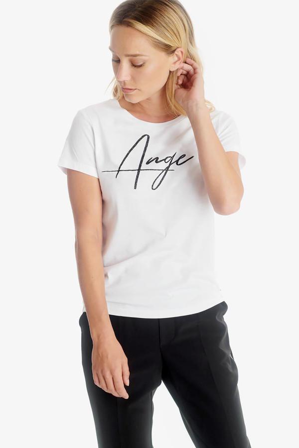 T-shirt uni avec inscription pailletée devant TALIA Le Temps des Cerises