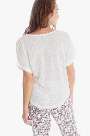 T-shirt en fine maille avec clous devant FBOTA Le Temps des Cerises