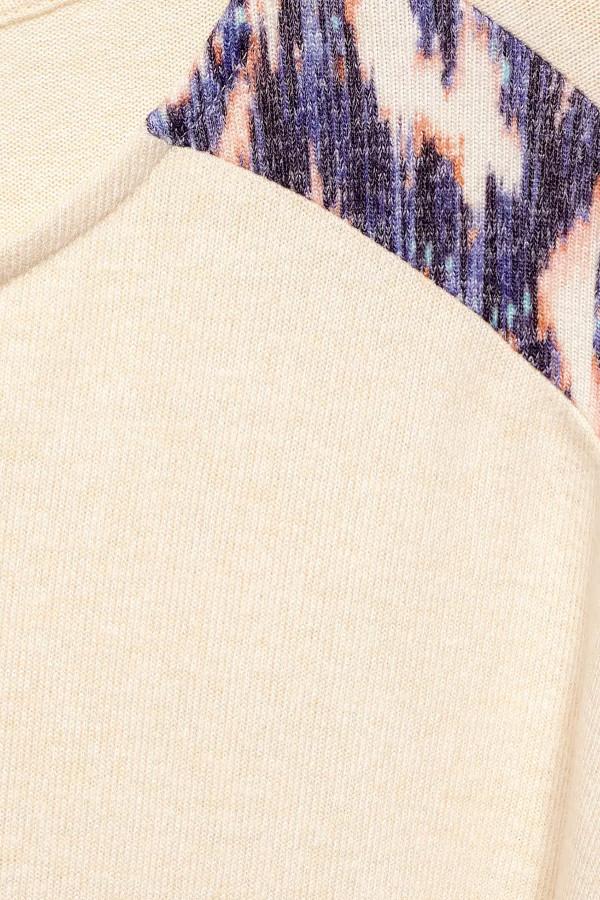T-shirt en fine maille avec rayures contrastées Street One