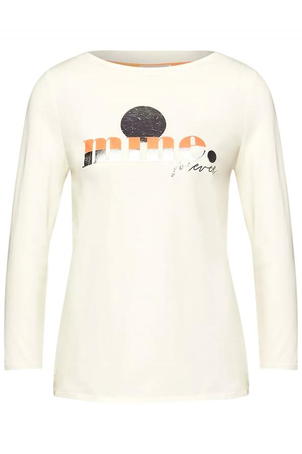 T-shirt en coton avec impression devant Street One