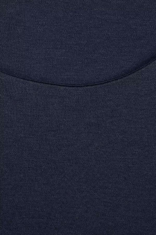 T-shirt basique uni en coton mélangé manches 3/4 Street One