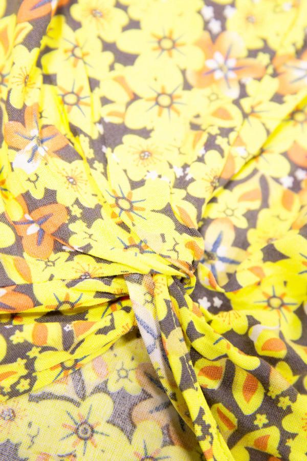 Blouse fleurie avec nœud à la base Garcia