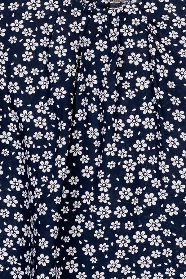 Blouse fleurie sans manches avec boutons au dos Losan