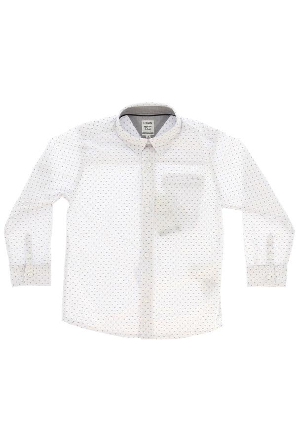 Chemise en coton imprimé sur l'ensemble avec poche poitrine Losan