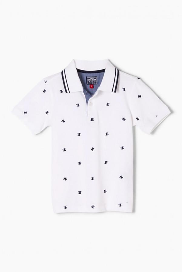 Polo imprimé minimaliste en coton stretch S.Oliver