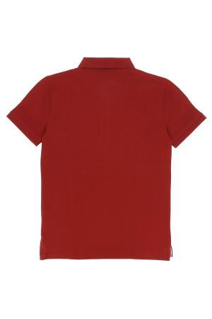 Polo uni en coton avec logo brodé à la poitrine Tommy Hilfiger