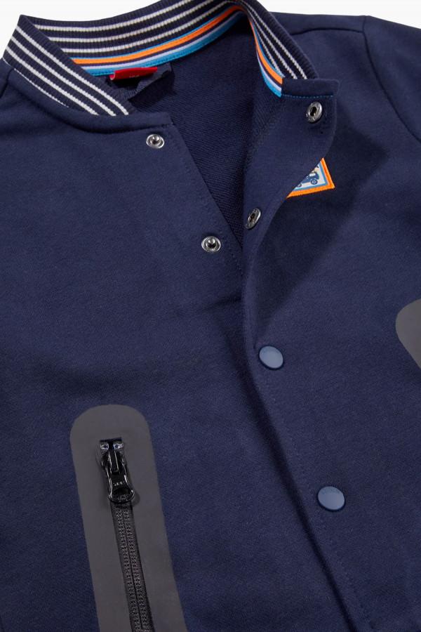 Cardigan uni avec bords rayés fermeture boutons pression S.Oliver