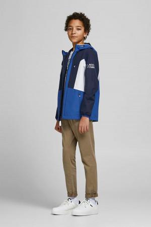 Veste légère à capuche tricolore impression à la manches CARSON Jack & Jones