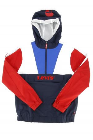 Parka à enfiler tricolore logo brodé à la poche avant Levi's