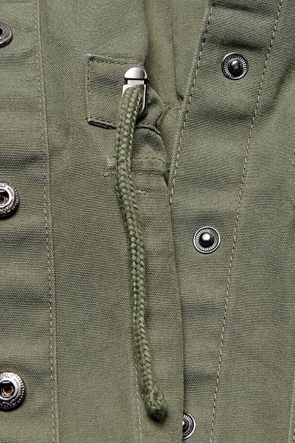 Veste unie avec cordons de serrage à la taille en coton ALLY