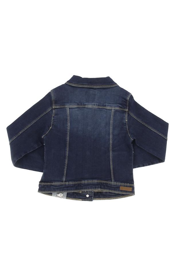 Veste en jean unie en coton stretch Losan Fille