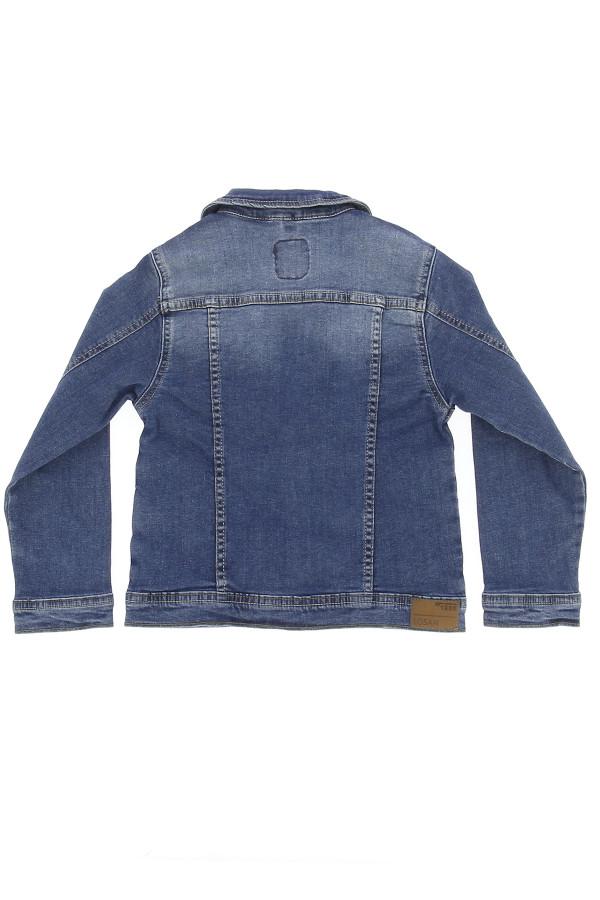 Veste en jean délavée en coton stretch Losan Fille