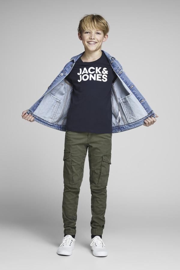 T-shirt uni avec logo Corp Logo Tee Jack & Jones Junior