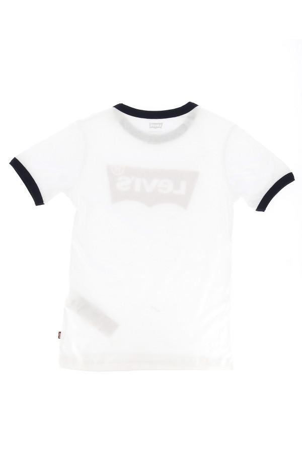 T-shirt uni avec bords contrastants et logo Levi's