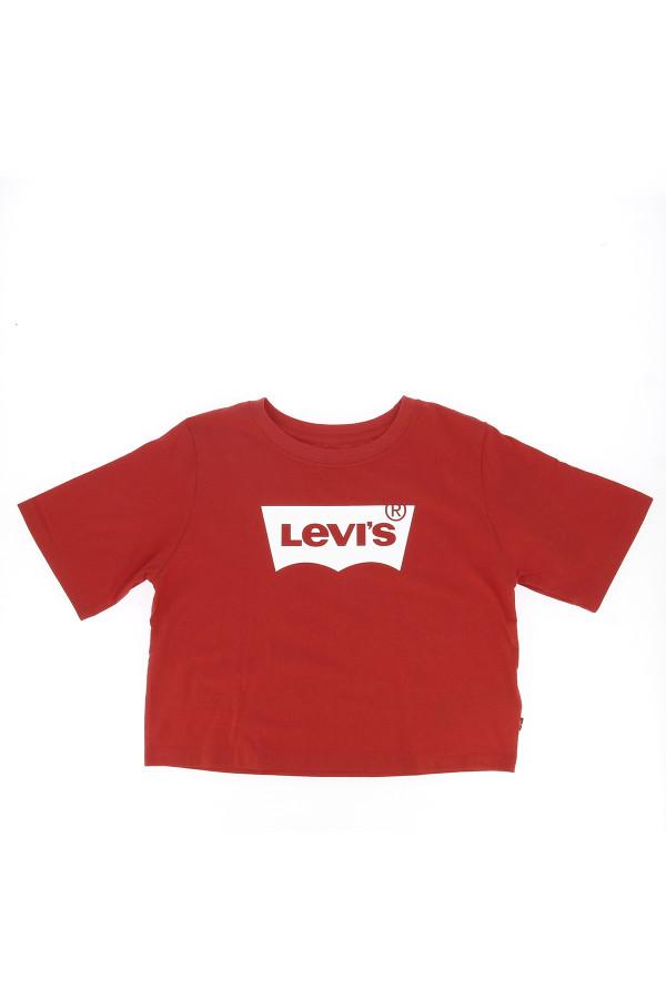T-shirt raccourci uni avec logo Levi's