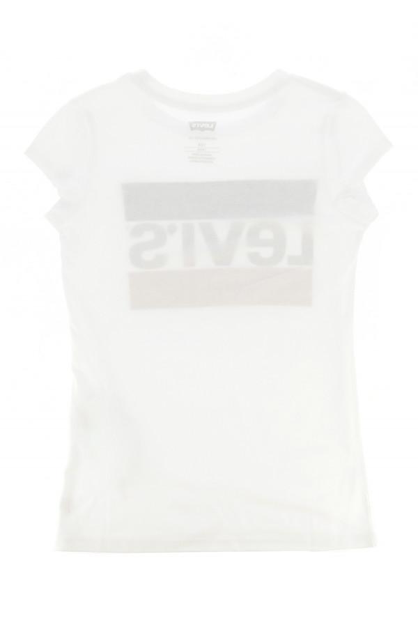 T-shirt uni avec logo tricolore sur le devant en coton Levi's Fille