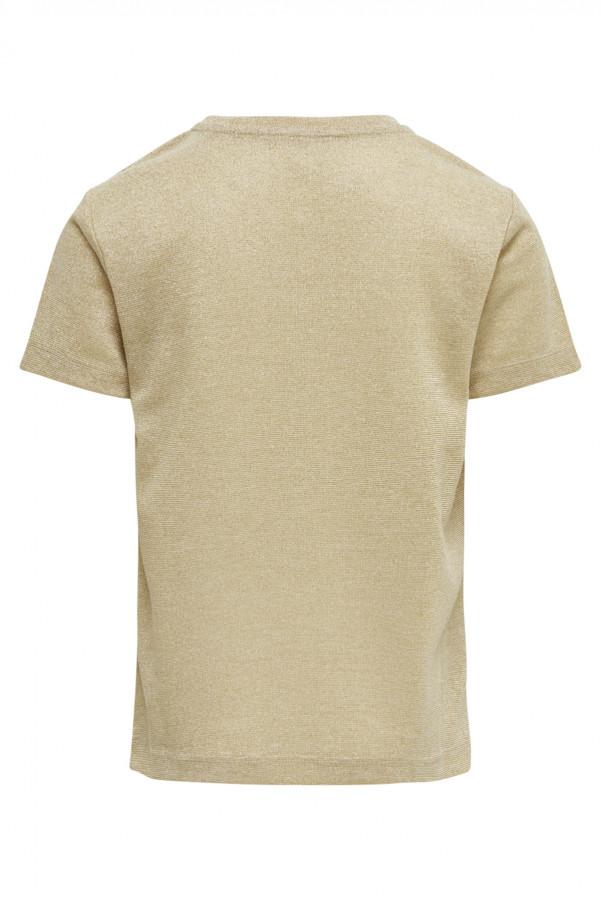 T-shirt uni en lurex manches courtes SILVERY Kids Only Fille