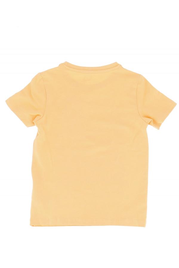 T-shirt uni en coton stretch avec impression devant XAVIER Name It