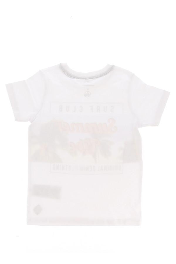T-shirt uni avec impression devant en coton stretch Name It