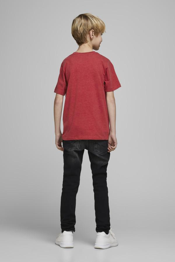 T-shirt en coton imprimé délavé devant CREW Jack & Jones