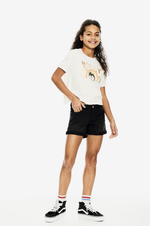 T-shirt court avec impression devant en coton Garcia