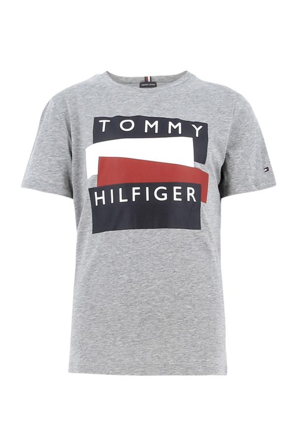 T-shirt en coton imprimé à l'avant Tommy Hilfiger