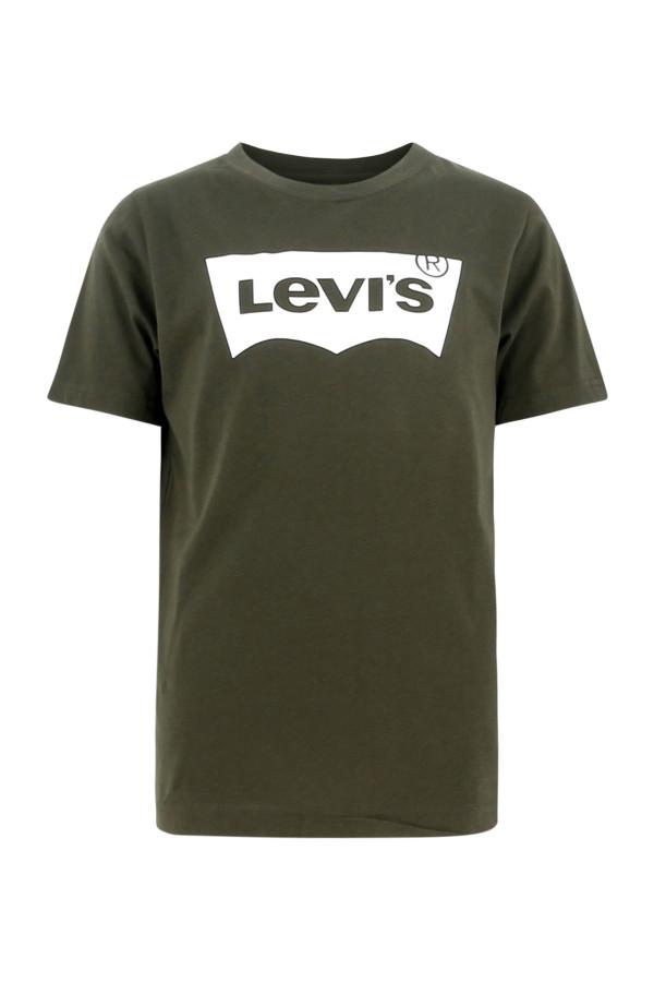 T-shirt uni avec impression sur le devant manches courtes Levi's