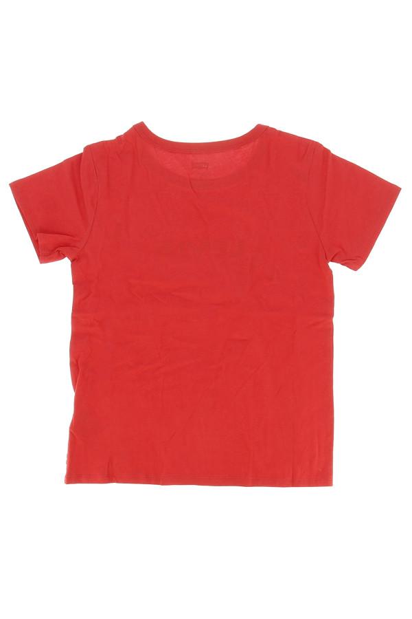 T-shirt uni avec impression logo sur le devant en coton Levi's