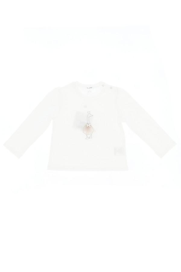 T-shirt strass et tulle appliqués devant Gymp