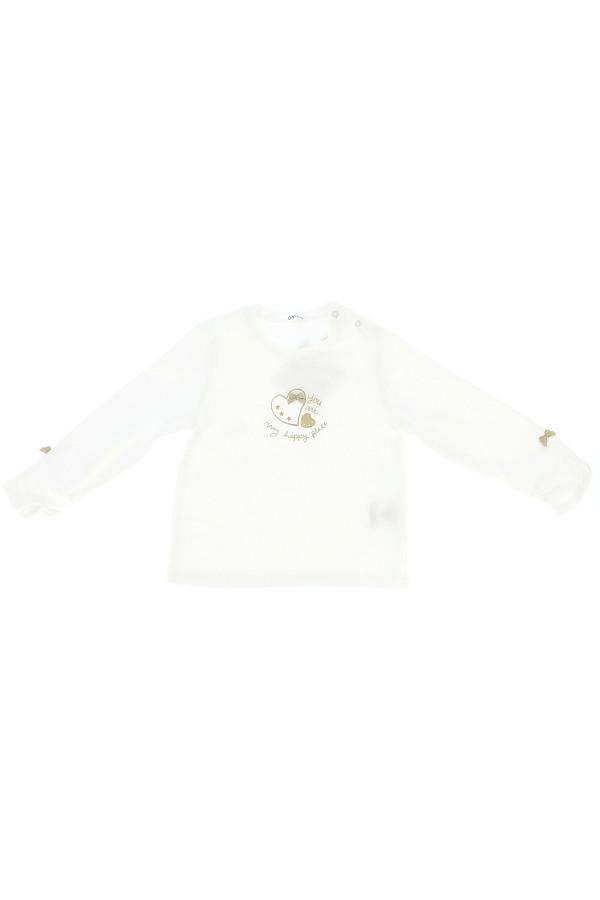 T-shirt en coton stretch fronces aux poignets Gymp