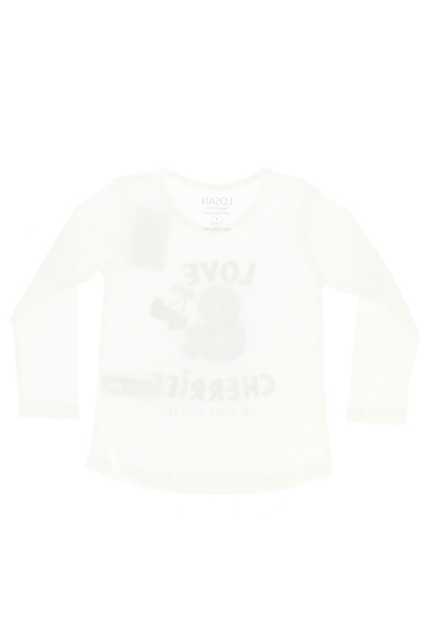 T-shirt à manches longues avec sequins et imprimé à l'avant Losan