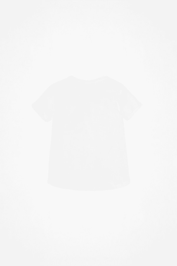 T-shirt uni en coton avec logo imprimé à l'avant Guess