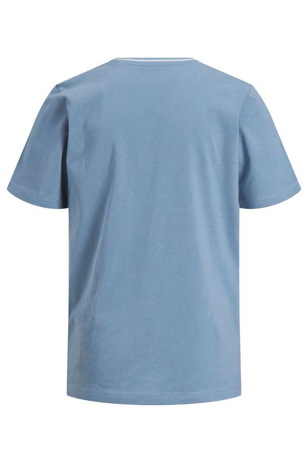 T-shirt tricolore avec logo imprimé en coton Jack & Jones