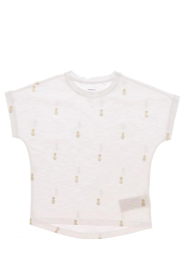 T-shirt loose ananas dorés imprimés sur l'ensemble TYKKI Name It